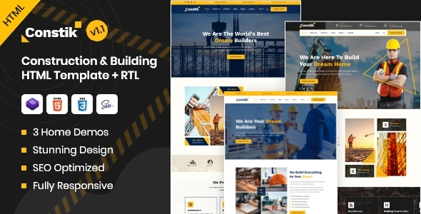 [Free Download] Constik – Construction & Building Company HTML Template (Nulled) [Latest Version]