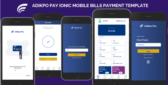 [Free Download] Adikpo Mobile Bills Payment Ionic Template (Nulled) [Latest Version]