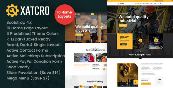 [Free Download] Xatcro – Factory Industrial HTML Template (Nulled) [Latest Version]
