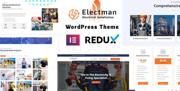 [Free Download] electman- Electricity Services WordPress Theme (Nulled) [Latest Version]
