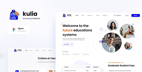 [Free Download] Kulia – Modern University Website UI Template Figma (Nulled) [Latest Version]