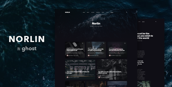 [Free Download] Norlin — Personal Dark Theme for Ghost (Nulled) [Latest Version]
