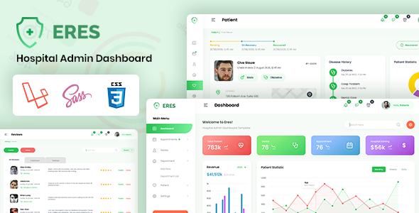 [Free Download] Eres – Laravel Hospital Admin Template (Nulled) [Latest Version]