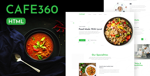 [Free Download] Cafe360 | Restaurant One Page HTML Template (Nulled) [Latest Version]