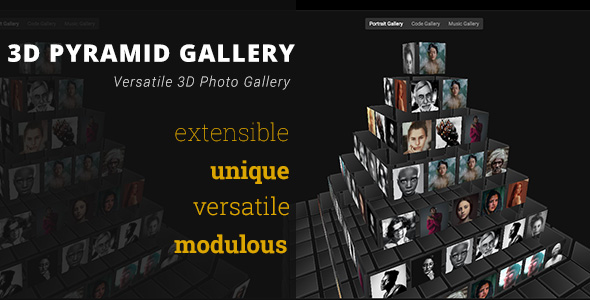 [Free Download] 3D Pyramid Gallery – Advanced Media Gallery (Nulled) [Latest Version]