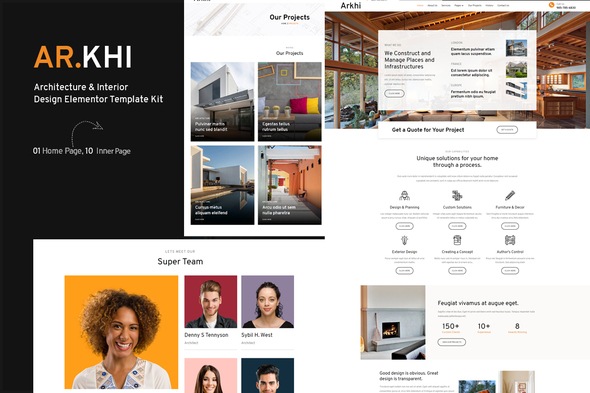 [Free Download] Arkhi Architecture & Interior Design Elementor Template Kit (Nulled) [Latest Version]