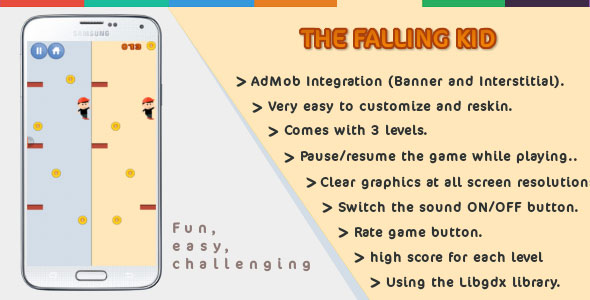 [Free Download] The Falling Kid | Android | Games (Nulled) [Latest Version]