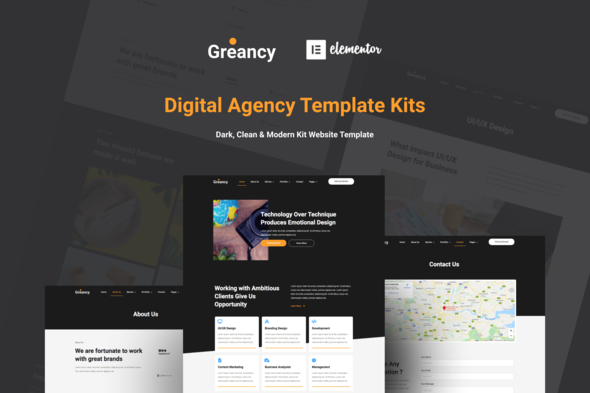 [Free Download] Greancy – Digital Business Agency Elementor Template Kit (Nulled) [Latest Version]