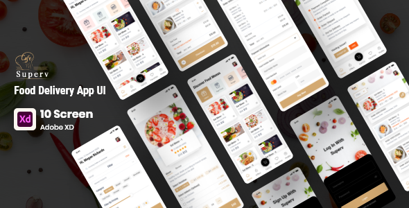 [Free Download] superv – Restaurant App UI Kit for XD (Nulled) [Latest Version]