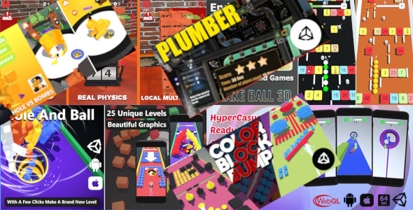 [Free Download] 7 Unity Games in 1 Bundle with 51% OFF | Puzzle and Casual Unity Projects for Android and iOS (Nulled) [Latest Version]
