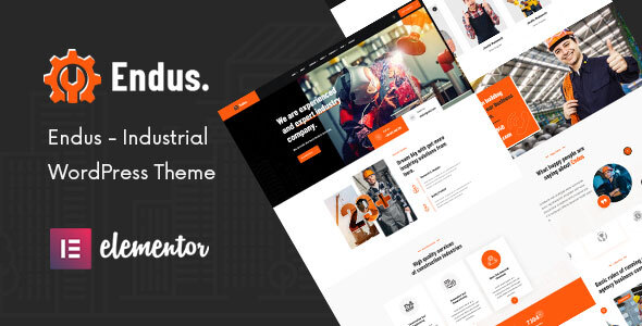 [Free Download] Endus – Industrial Manufacturing WordPress Theme (Nulled) [Latest Version]