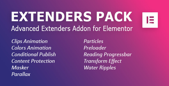 [Free Download] Extenders Pack: Advanced Extenders Addon for Elementor WordPress Plugin (Nulled) [Latest Version]