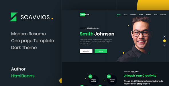 [Free Download] Scavvios   One Page Parallax HTML5 Template (Nulled) [Latest Version]