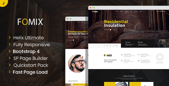[Free Download] Fomix – House Insulation & Energy Efficiency Joomla Template (Nulled) [Latest Version]