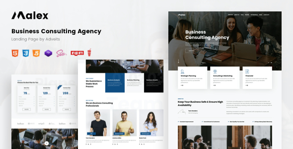 [Free Download] Malex – Business Consulting Agency Landing Page (Nulled) [Latest Version]