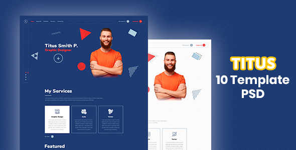 [Free Download] Titus – Personal Resume PSD Template (Nulled) [Latest Version]