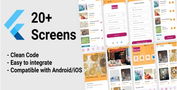 [Free Download] Flutter eCommerce App – Home Decoration UI Template (Nulled) [Latest Version]