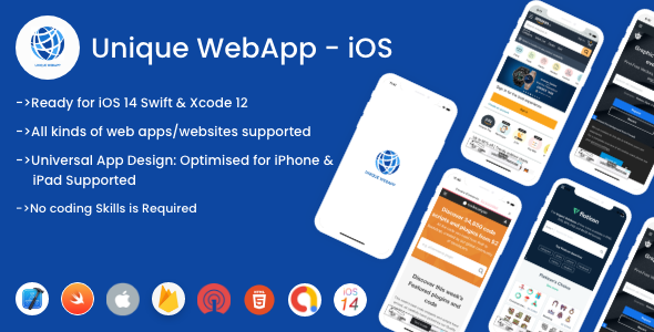 [Free Download] Unique WebView For iOS – WebView URL/HTML to iOS app (Nulled) [Latest Version]