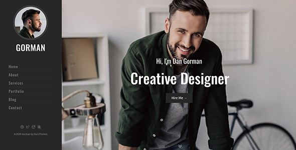 [Free Download] GORMAN – Responsive Bootstrap 4 One Page Portfolio Template (Nulled) [Latest Version]