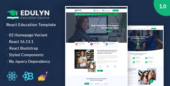 [Free Download] Edulyn – React Education Template (Nulled) [Latest Version]