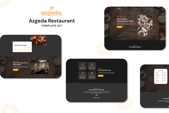 [Free Download] Azgeda – Retaurant Elementor Template Kit (Nulled) [Latest Version]