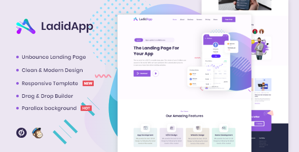 [Free Download] LadidApp – App Unbounce Landing Page Template (Nulled) [Latest Version]