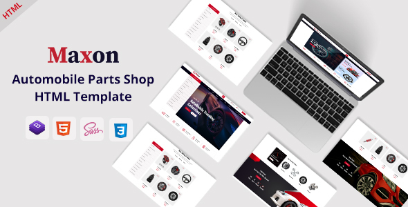 [Free Download] Maxon – Auto Parts Shop HTML Template (Nulled) [Latest Version]