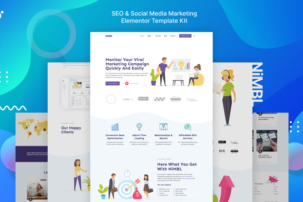 [Free Download] Nimbl – SEO & Social Media Marketing Template Kit (Nulled) [Latest Version]