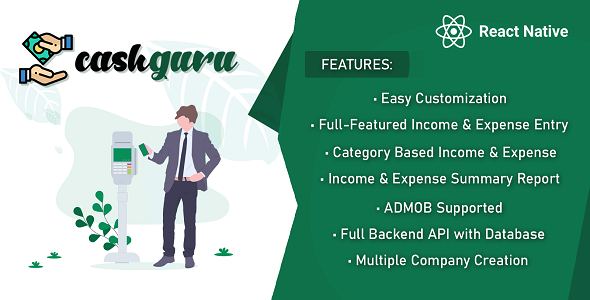 [Free Download] Cash Guru – Smart Finance Manager (Expense, Income, Categorywise Expense Income & Expense Vs Income) (Nulled) [Latest Version]