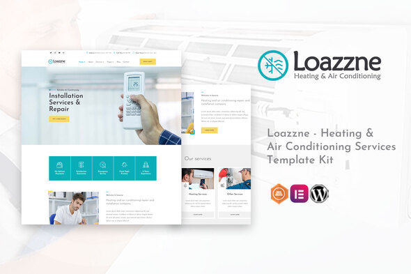 [Free Download] Loazzne – Heating & Air Conditioning Services Template Kit (Nulled) [Latest Version]