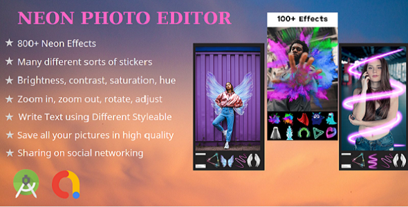 [Free Download] Neon Photo Edior – Photo Filters- Neon Light Effects (Nulled) [Latest Version]