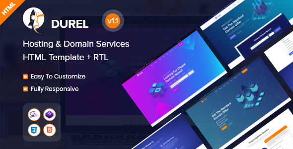 [Free Download] Durel – Hosting & Domain Services HTML Template (Nulled) [Latest Version]