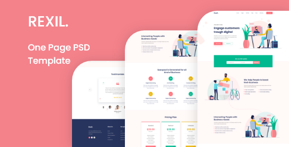 [Free Download] Rexil- One Page PSD Template (Nulled) [Latest Version]
