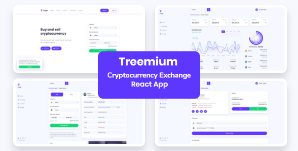 [Free Download] Treemium – Cryptocurrency Exchange Dashboard React App (Nulled) [Latest Version]