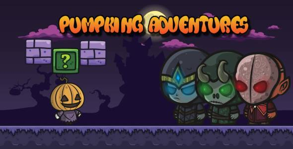 [Free Download] Pumpkin Halloween Adventures – Buildbox Project (Nulled) [Latest Version]