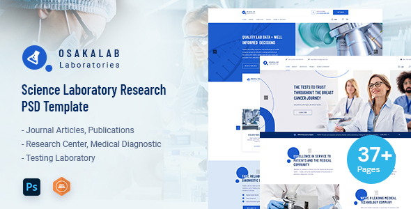 [Free Download] Osaka Lab – Science Laboratory Research PSD Template (Nulled) [Latest Version]