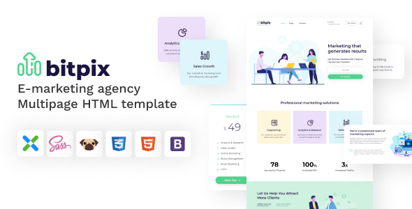 [Free Download] Bitpix – HTML5 E-marketing Agency Template (Nulled) [Latest Version]