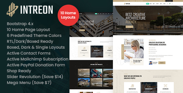 [Free Download] Intreon – Interior & Architecture HTML Template (Nulled) [Latest Version]