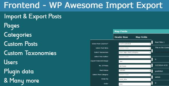 [Free Download] Frontend Addon – WP Awesome Import Export Plugin (Nulled) [Latest Version]
