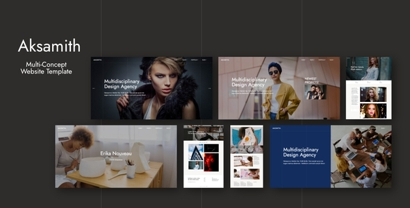 [Free Download] Aksamith – Multi-Concept Website Template (Nulled) [Latest Version]