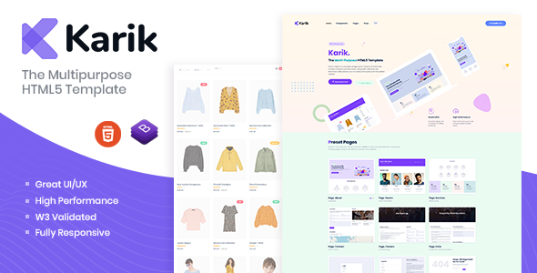 [Free Download] Karik – The Multipurpose HTML5 Template (Nulled) [Latest Version]
