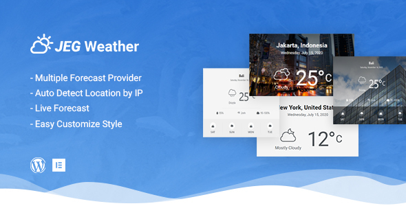 [Free Download] Jeg Weather Forecast WordPress Plugin – Add Ons for Elementor and WPBakery Page Builder (Nulled) [Latest Version]