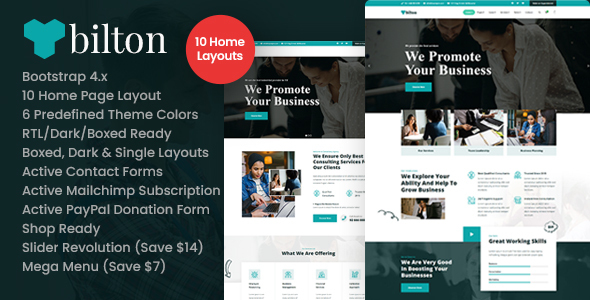 [Free Download] Bilton – Business Consulting and Professional Services HTMLTemplate (Nulled) [Latest Version]