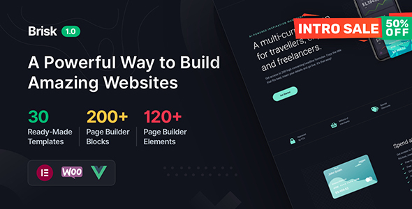 [Free Download] Brisk – Elementor Multi-Purpose WordPress Theme (Nulled) [Latest Version]