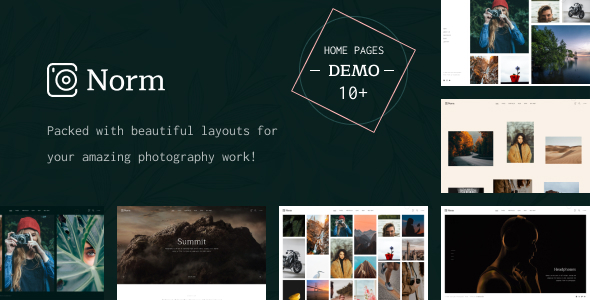 [Free Download] Norm – Photography Elementor WordPress Theme (Nulled) [Latest Version]