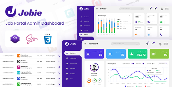 [Free Download] Jobie – Job Board Admin Dashboard Template (Nulled) [Latest Version]
