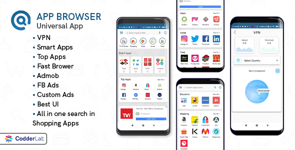 [Free Download] App Browser – All on one app with VPN (Nulled) [Latest Version]
