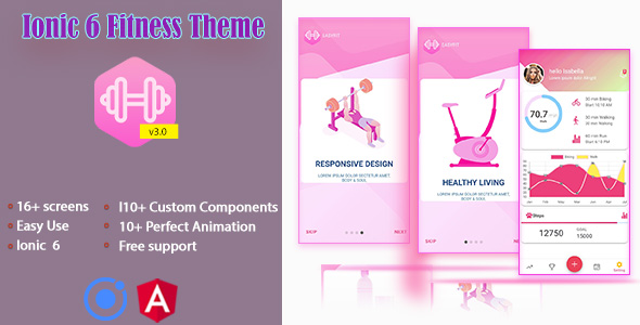 [Free Download] Ionic 6 / Angular 10 Fitness UI Theme / Template App | Starter App (Nulled) [Latest Version]