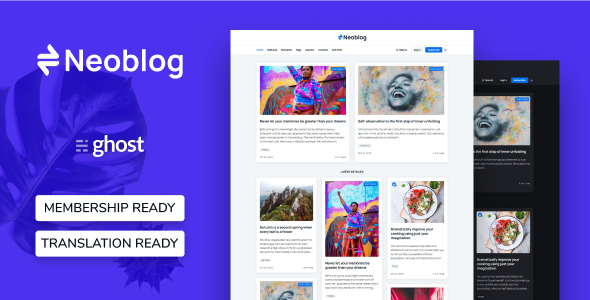 [Free Download] Neoblog – Masonry Ghost Blog and Magazine Theme (Nulled) [Latest Version]