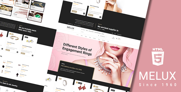 [Free Download] Melux – Jewelry HTML Template (Nulled) [Latest Version]